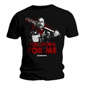 The Walking Dead You Work for ME Negan Lucille Fashion Unisex T Shirt Short Sleeve T-Shirt Men's Funny Black T-Shirt 51