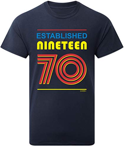 50th Birthday Gifts Cadeaux Anniversaire 50 Ans - Established 1970 - T-Shirt Homme 2