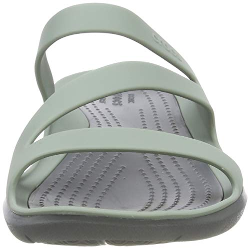 Crocs Swiftwater F, Sandales Bout Ouvert Femme 2