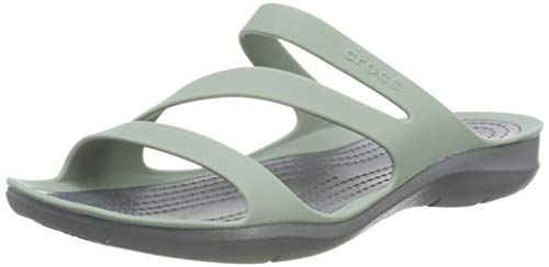 Crocs Swiftwater F, Sandales Bout Ouvert Femme 1