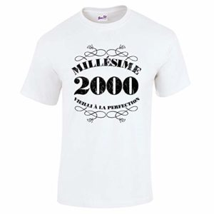 Bang Tidy Clothing T-Shirt Anniversaire Homme 20 Ans Millésime 2000 26