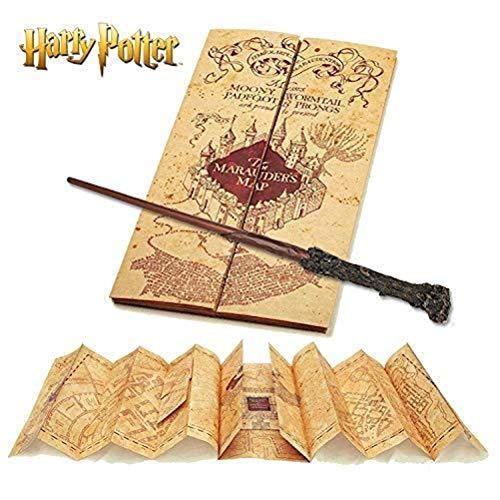 Harry Potter Baguette & Harry Potter Marauders Carte Collection complète | Authentique Merchandise | Ultime Cadeaux Edition Collector 1
