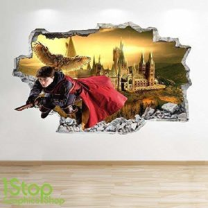 1Stop Graphics Shop Harry Potter Autocollant Mural 3D Look - Chambre Enfants Poudlard Autocollant Mural Z587 83