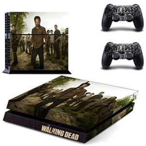 FENGLING The Walking Dead Ps4 Stickers Play Station 4 Skin Sticker Game Decals for Playstation 4 Ps4 Console & Controller Skins Vinyl 43