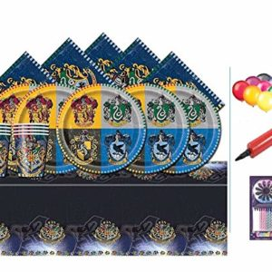 Harry Potter Party Pack Kids Birthday Kit de Vaisselle pour 16-plaques, Tasses, Serviettes, Couverture de Table et Baloons Gratuit 58