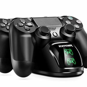 PS4 Chargeur ECHTPower DualShock 4 Station de Charge Support d'alimentation pour Sony Playstation PS 4 / Slim/Pro Contrôleur sans Fil avec Câble de Charge et LED élégants (Vert&Rouge LED) 33