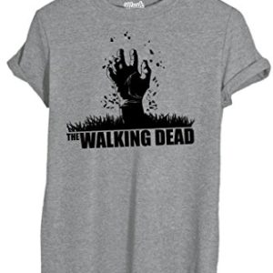 T-Shirt Walking Dead Zombie Main - Film By Mush Dress Your Style Femme-S Gris 5