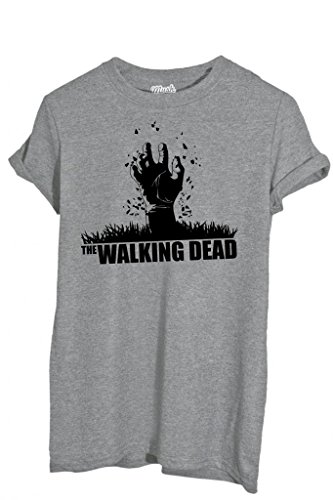 T-Shirt Walking Dead Zombie Main - Film By Mush Dress Your Style Femme-S Gris 1