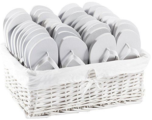Zohula Originals Tongs Blanches Party Pack–20Paires Tailles mélangées 1