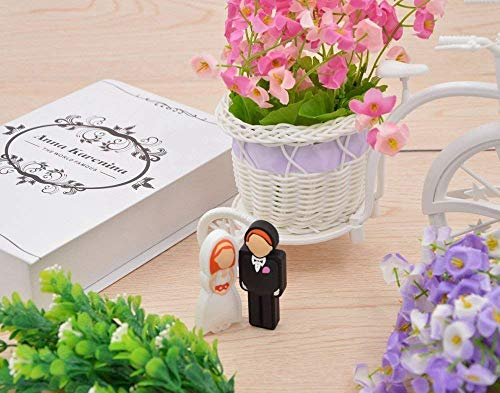 FEBNISCTE 2PCS Wedding Gift 8GB 16GB 32GB USB Sticks with Gift Box 3
