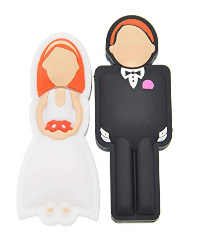 FEBNISCTE 2PCS Wedding Gift 8GB 16GB 32GB USB Sticks with Gift Box 4