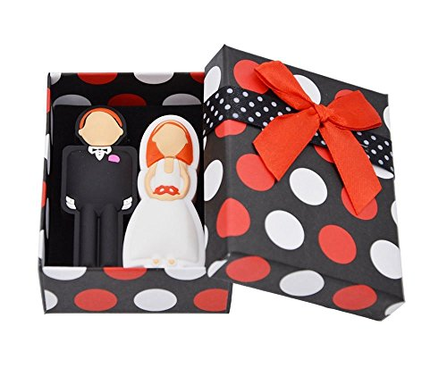 FEBNISCTE 2PCS Wedding Gift 8GB 16GB 32GB USB Sticks with Gift Box 1