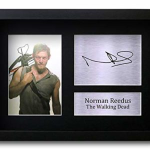 HWC Trading Norman Reedus Signé Image Autographe Imprimé Impression Photo Cadeau D'Affichage pour The Walking Dead TV Show Ventilateurs 5