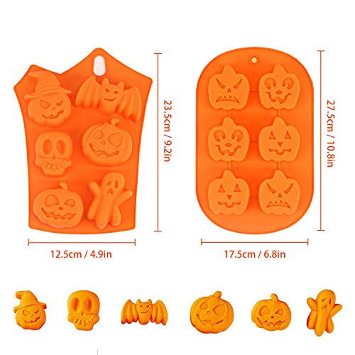 LOVEXIU Moulle Halloween,Moulle Silicone Patisserie,Halloween Citrouille Gateaux Silicone Moule,AntiadhéSif Moules en Silicone pour Muffins, Pumpkin Moule Muffin(2pcs). 3