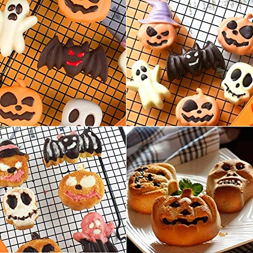 LOVEXIU Moulle Halloween,Moulle Silicone Patisserie,Halloween Citrouille Gateaux Silicone Moule,AntiadhéSif Moules en Silicone pour Muffins, Pumpkin Moule Muffin(2pcs). 4