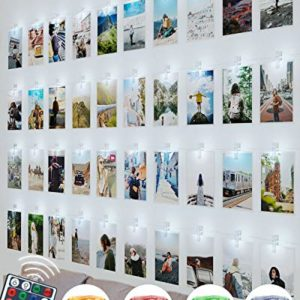 Guirlande Photo, Litogo Guirlande Lumineuse Chambre LED Guirlande Led Photo Batterie Alimenté Porte photos Avec Photo Clips Decoration Interieur Chambre pour Accroche Photo 5
