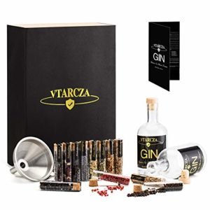 Vtarcza Kit de Fabrication de gin, DIY Ensemble de gin Kit d'Infusion de Whisky pour la Maison, 12 épices à gin/Entonnoir à Barre Coffret Cadeau gin idéal comme Cadeau 6