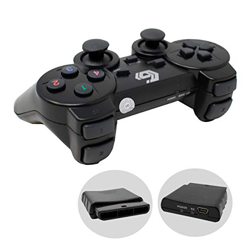 2.4GHz sans Fil Vibrations Double Gamepad/De Keux Contrôleur Joypad pour PS2/PS3/PC (Windows 7/8/10) / iCHOOSE 3