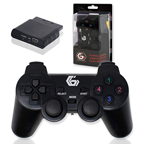 2.4GHz sans Fil Vibrations Double Gamepad/De Keux Contrôleur Joypad pour PS2/PS3/PC (Windows 7/8/10) / iCHOOSE 1