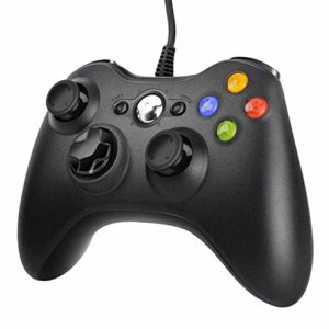 JAMSWALL Manette Xbox 360 - Manette PC Joystick pour Xbox 360 et Windows 7/8/10 Connection USB - Design Ergonomique - Manette du de Jeu Filaire avec Double Vibration Pour PC Xbox 360 Windows 24