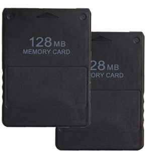 LEAGY 2Pack 128MB Carte mémoire pour Sony Playstation 2 PS2 41