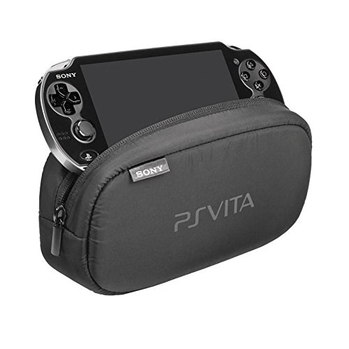OFFICIAL Sony Playstation Vita PS Soft Travel Pouch Carry Case WITH STORAGE Bag FOR DUAL COMPARTMENTS PERIPHERALS MEMORY CARD SLOTS-PCH-Packed OEM ZTP1 [] [Import Anglais] 2
