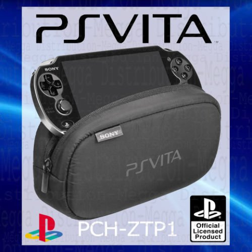 OFFICIAL Sony Playstation Vita PS Soft Travel Pouch Carry Case WITH STORAGE Bag FOR DUAL COMPARTMENTS PERIPHERALS MEMORY CARD SLOTS-PCH-Packed OEM ZTP1 [] [Import Anglais] 1