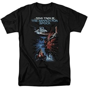 Star Trek - St/The Search for Spock Adult T-Shirt in Black,T-Shirts à Manches Courtes 61