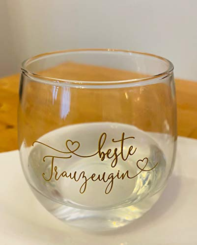 Verre à eau Great Stuff avec inscription en allemand « Beste Trauzeugin » - Idée cadeau de mariage, remerciement, JGA BFF Best Friends Best Friends Best Friend Bridesmaid 2