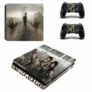 XIANYING The Walking Dead Ps4 Slim Autocollants Play Station 4 Peau Autocollant Vinyle pour Playstation 4 Ps4 Slim Console et contrôleur Skins Decal 44