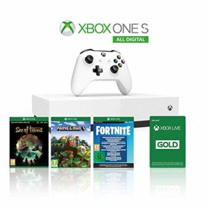 Xbox One S 1TB All Digital Edition Console + 1 Mese Xbox Live Gold + 3 Digital Games Inclusi (Sea of Thieves, Minecraft, Fortnite Legendary Evolving Skin & 2000 V-Bucks) [xbox_one,xbox_one] 20