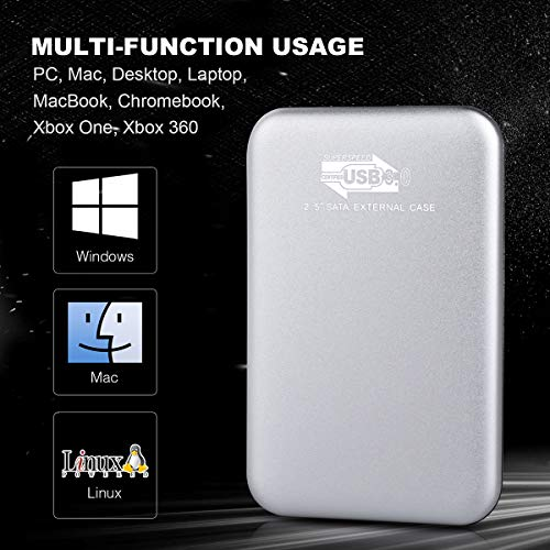 Disque Dur Externe 1to 2to, Disque Dur Externe USB3.0 pour PC, Xbox One, Desktop, Laptop, Chromebook, Xbox 360 4