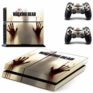 FENGLING The Walking Dead Ps4 Stickers Play Station 4 Skin Sticker Game Decals for Playstation 4 Ps4 Console & Controller Skins Vinyl 47