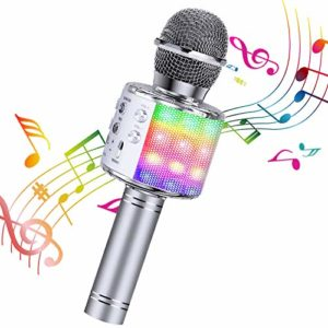 ShinePick Microphone Karaoke Sans Fil, Karaoké Microphone Bluetooth Portable pour Enfants/Adultes Chanter, Compatible avec Android/IOS/PC/Smartphone 8