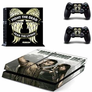 XIANYING The Walking Dead Ps4 Stickers Play Station 4 Skin Sticker Game Decals for Playstation 4 Ps4 Console & Controller Skins Vinyl 3