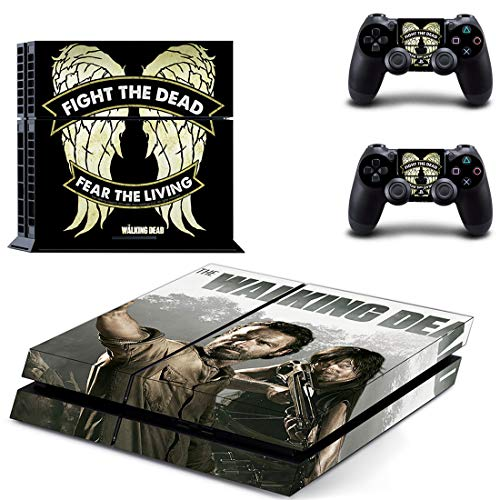XIANYING The Walking Dead Ps4 Stickers Play Station 4 Skin Sticker Game Decals for Playstation 4 Ps4 Console & Controller Skins Vinyl 1