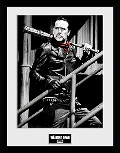 1art1 The Walking Dead Poster De Collection Encadré - Negan Stairs (40 x 30 cm) 1
