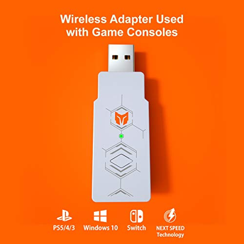 BIGBIG WON Wireless Adapter for Switch/ Switch Lite/PS5/PS4/PS3/Windows10 Wireless Gaming Controller Adapter 3