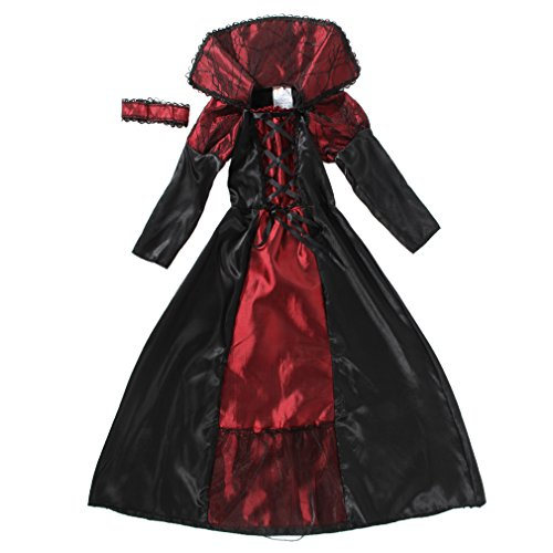 EOZY - Vampire Queen Costume - Vampire Girl Costume - Twilight - Girls Girls 'Dress And Accessories for Halloween Carnival, Cosplay 1