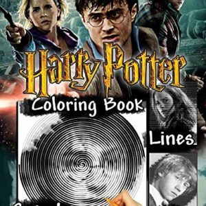 Harry Potter Dots Lines Spirals Coloring Book: Spiroglyphics With Exclusive Images Of Harry Potter Series 89