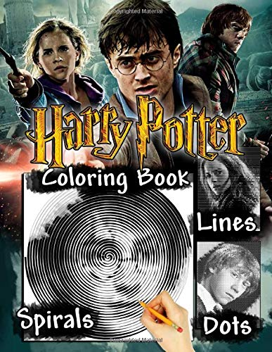 Harry Potter Dots Lines Spirals Coloring Book: Spiroglyphics With Exclusive Images Of Harry Potter Series 1