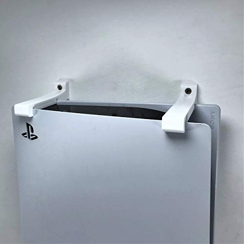 3D Cabin PS5 Wall Mount Wall Bracket Holder Stand For Play Station 5 Disc Corner Support Any Orientation White Left 3