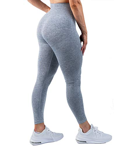 DUROFIT Legging de Sport Femme Pantalon de Fitness Taille Haute Yoga Pants Elastique pour Running Course à Pied Enterînement Jogging Gym 1