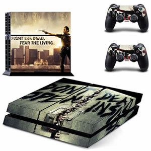 FENGLING The Walking Dead Ps4 Stickers Play Station 4 Skin Sticker Game Decals for Playstation 4 Ps4 Console & Controller Skins Vinyl 27