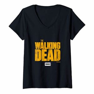 Femme The Walking Dead Logo T-Shirt avec Col en V 3