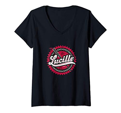 Femme The Walking Dead Lucille T-Shirt avec Col en V 1