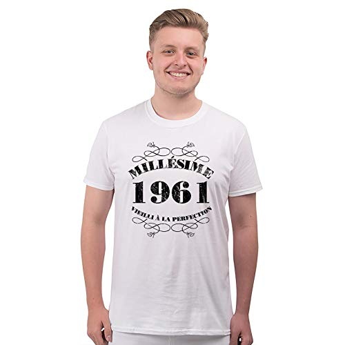 Bang Tidy Clothing T-Shirt Anniversaire Homme 60 Ans MillAsime 1961 2