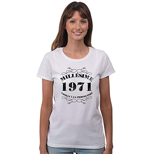 Bang Tidy Clothing T-Shirt Femme Anniversaire 50 Ans Mill�Sime 1971 2