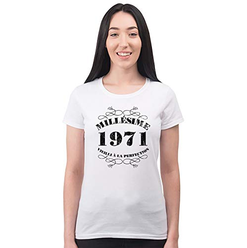 Bang Tidy Clothing T-Shirt Femme Anniversaire 50 Ans Mill�Sime 1971 3