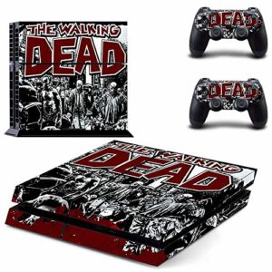 FENGLING The Walking Dead Ps4 Stickers Play Station 4 Skin Sticker Game Decals for Playstation 4 Ps4 Console & Controller Skins Vinyl 5